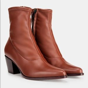 Vince Hayek Stretch Leather Bootie in size 7.5